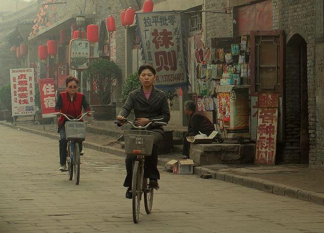 Zdjęcia: Chiny, Pingyao, Strare Miasto, Mieszkanki Pingyao, CHINY