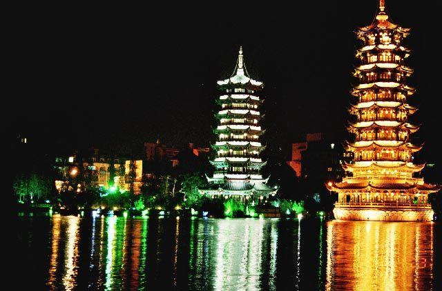 Zdjęcia: Guilin, Guangxi, Pagody Słońca i Księżyca, CHINY