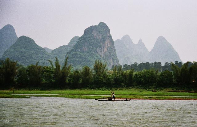 Zdj�cia: Jangshuo, Guangxi, mogoty nad Le, CHINY