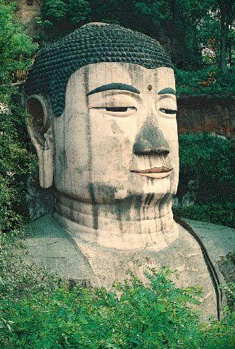Zdjęcia: Leshan, Syczuan, Dafo Budda Przyszłości, CHINY