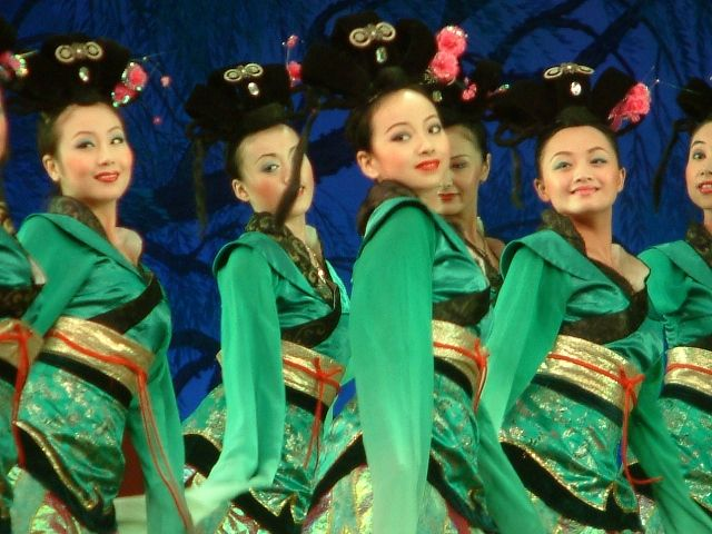 Zdjęcia: Xi'an, Ladies in Green, CHINY