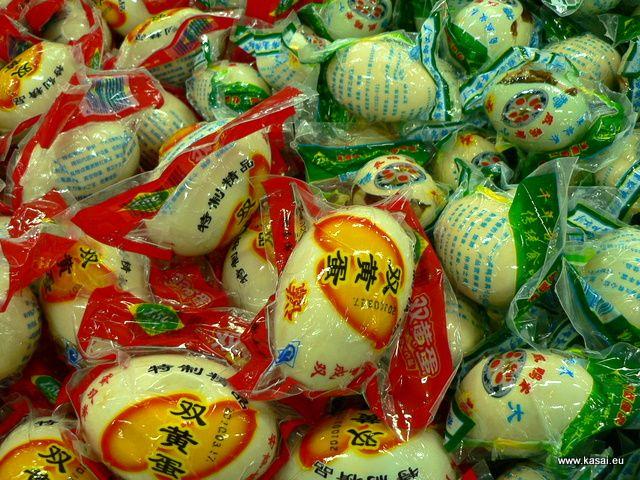 Zdjęcia: Szanghaj, Kulinarnie - jajka, CHINY