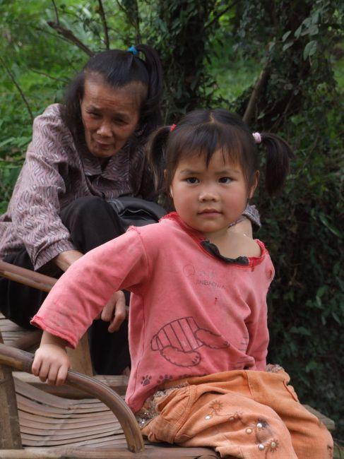 Zdjęcia: okolice Guilin, Kuangsi, Dziewczynka, CHINY