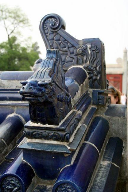 Zdjęcia: PEKIN, Fragment architektury - Park Świątyni nieba, CHINY