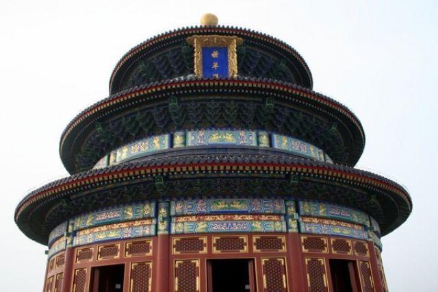 Zdjęcia: PEKIN, Pawilon Modlitwy za Dobre Zbiory (szczegół), CHINY