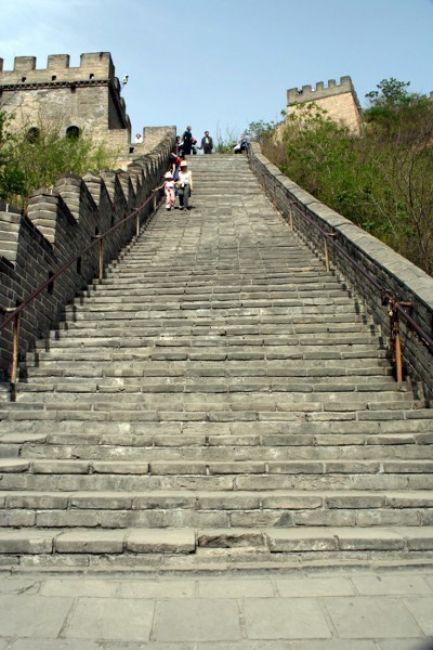 Zdjęcia: BADALING, Schodzimy z WIELKIEGO MURU., CHINY