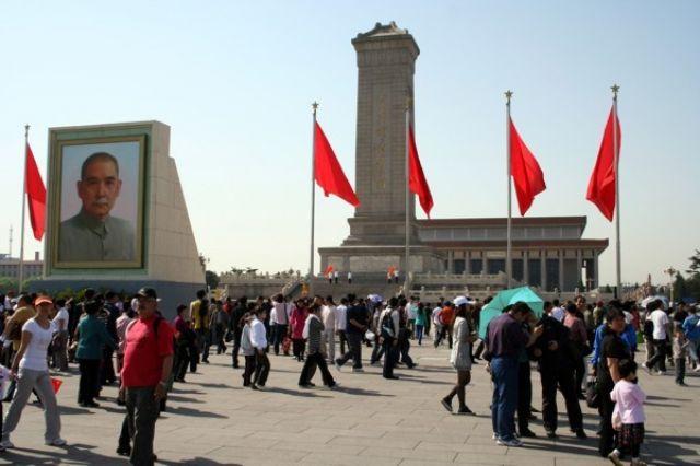 Zdjęcia: PEKIN, Plac Tiananmen - Pomnik Bohaterów Ludu i mauzoleum Mao Zedonga, CHINY
