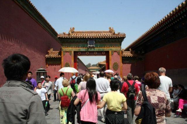 Zdj�cia: PEKIN, Wyj�cie z Zakazanego Miasta, CHINY