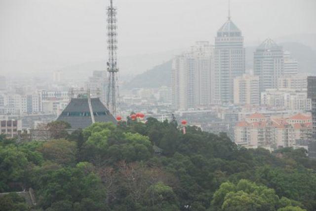 Zdjęcia: Centrum za Yu Shan Scenic Spot, Fuzhou, Smog, CHINY