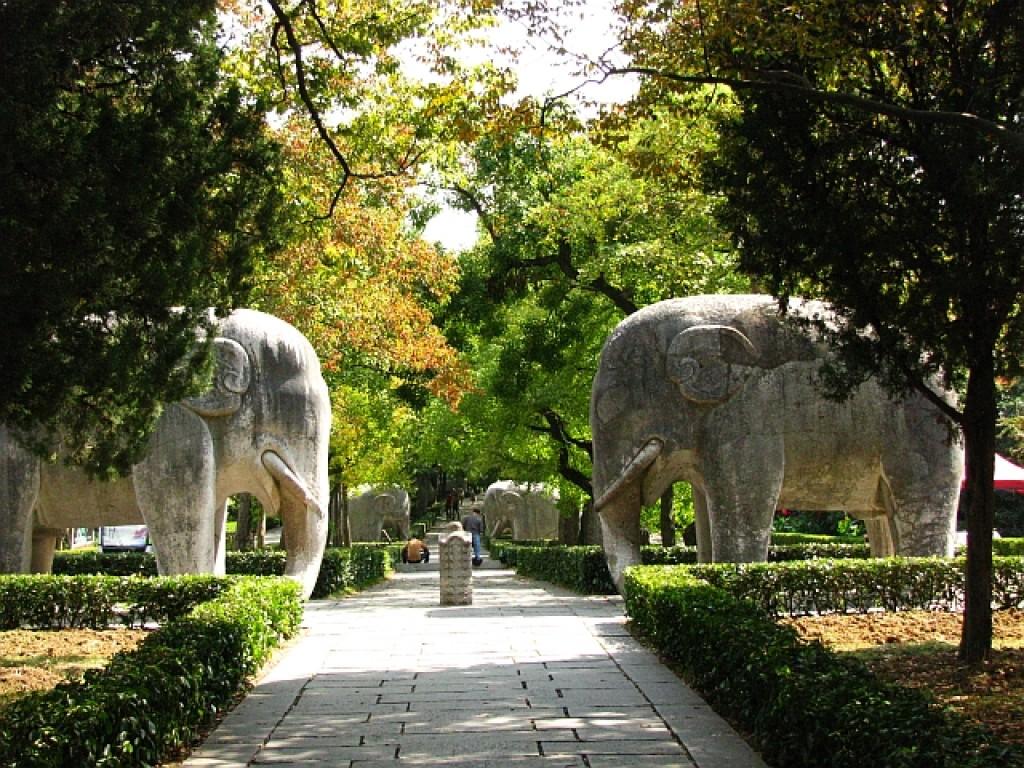 Zdjęcia: Nankin, prowincja Jiangsu, grobowiec cesarza Hongwu, CHINY