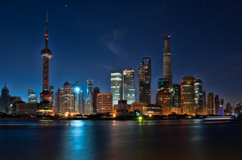 Zdjęcia: Szanghaj, Szanghaj, wschód słońca nad Pudongiem, CHINY
