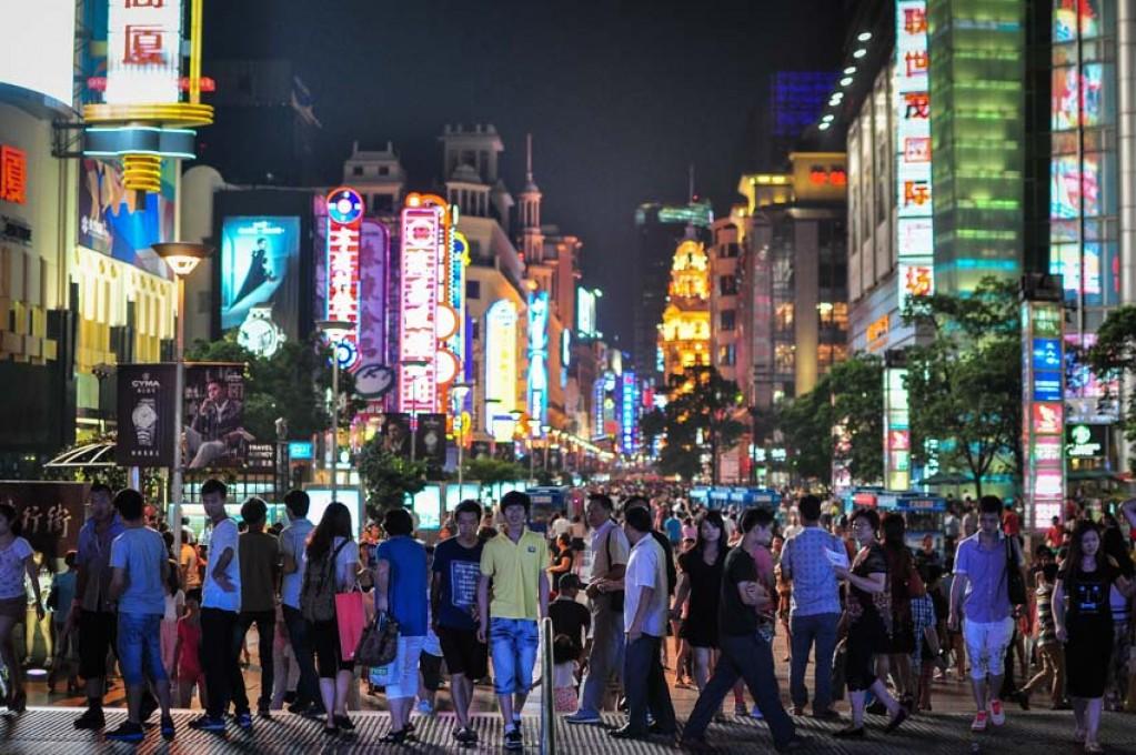 Zdjęcia: Szanghaj, Szanghaj, Nanjing Road- największe 'zakupowo' Chin., CHINY