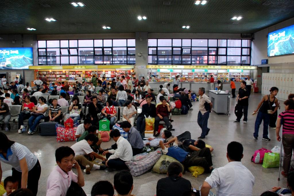 Zdjęcia: Pekin, Pekin, Na dworcu w Pekinie, CHINY
