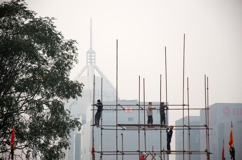Zdjęcia: Xian, Shaanxi, Tak buduje się rusztowanie w Chinach, CHINY