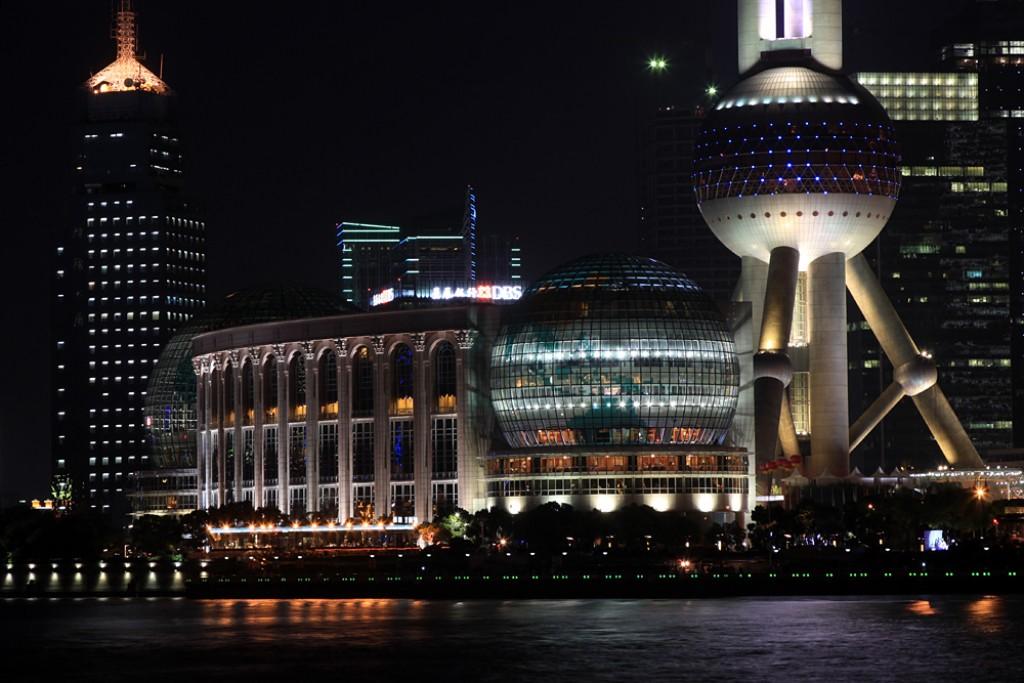 Zdjęcia: Pudong, Shanghai, Pudong nocą, CHINY