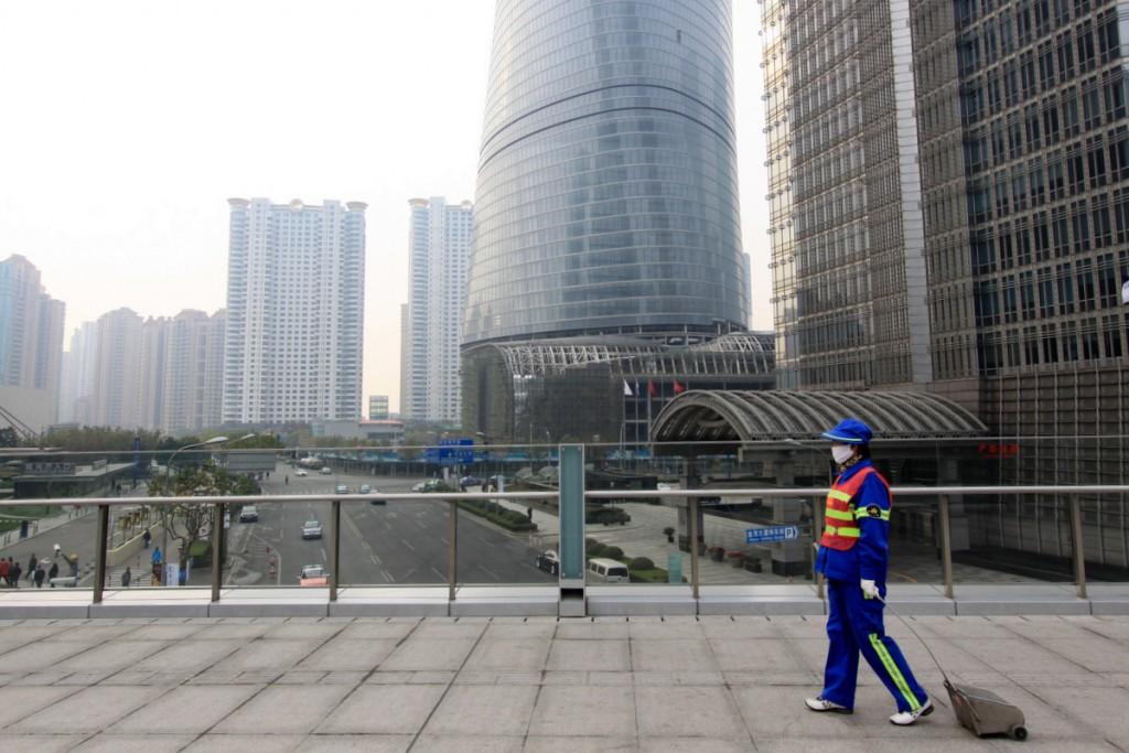 Zdjęcia: Pudong, Shanghai, Air pollution, CHINY