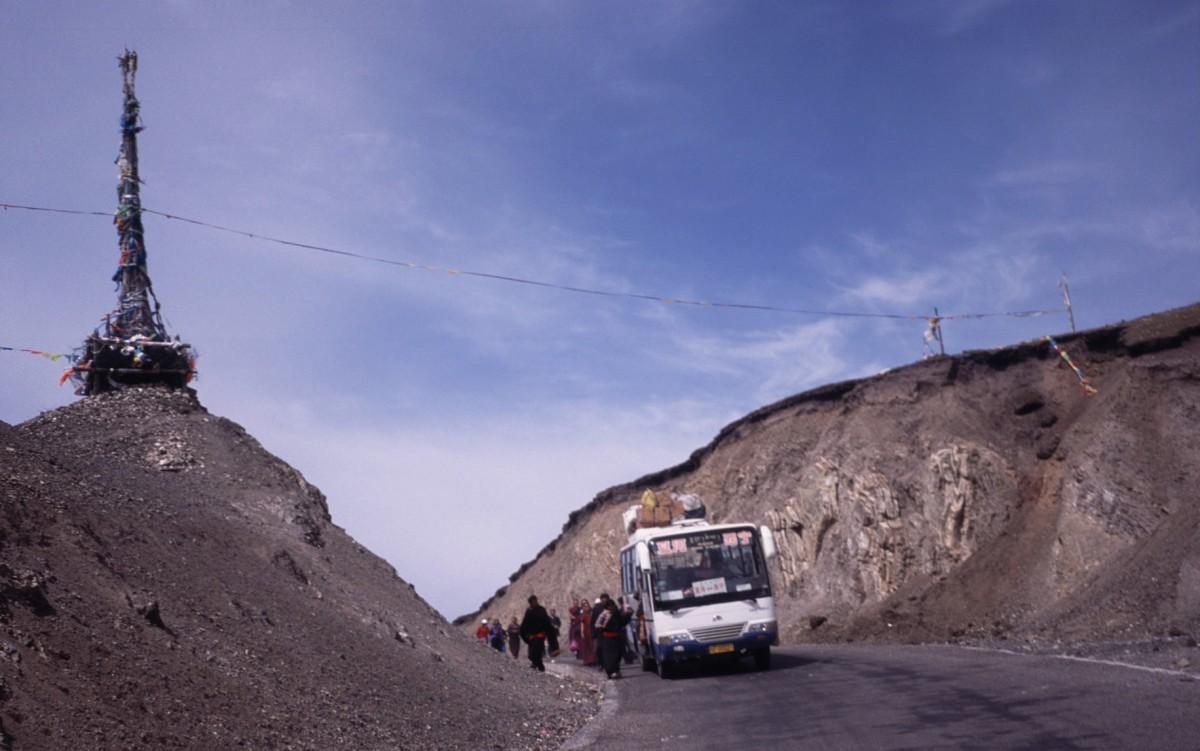 Zdjęcia: droga, GANSU, gdzieś po drodze, CHINY