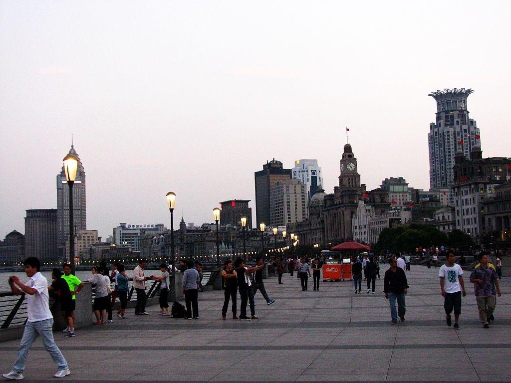 Zdjęcia: Szanghaj, Szanghaj, Bund o zmierzchu, CHINY