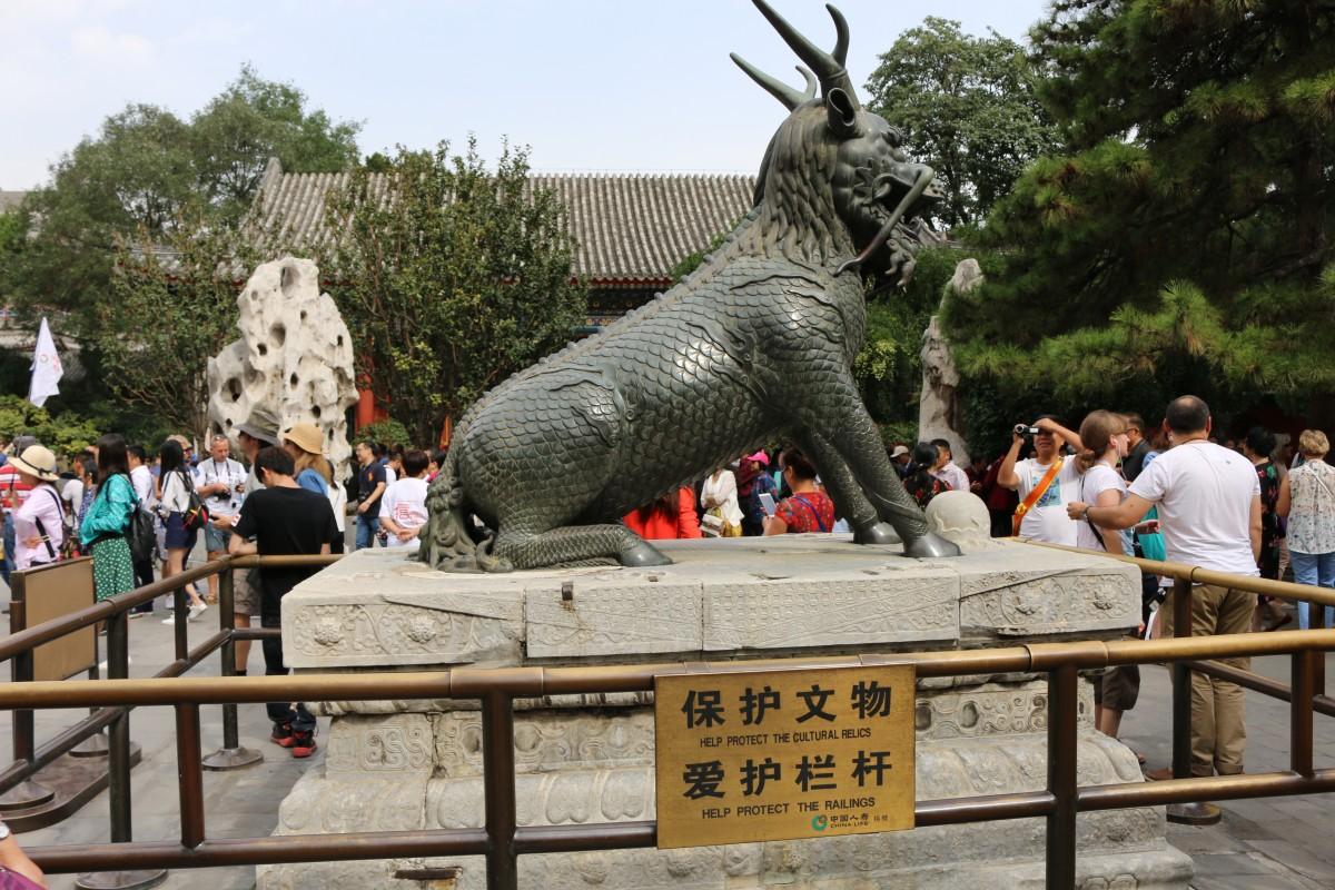 Zdjęcia: Kunming, Pekin, Statua z czasów cesarza Qianglong, CHINY