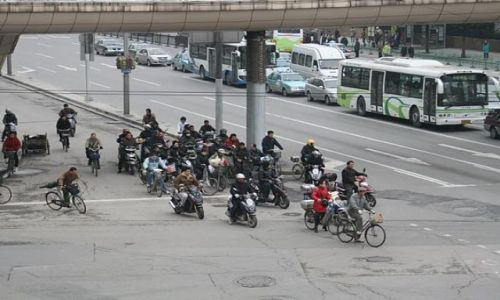 Zdjecie CHINY / - / Shanghai / There are nine million bicycles in Shanghai..