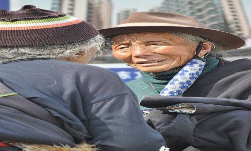 Zdjęcie CHINY / Lanzhou / Xiahe / Spotkanie