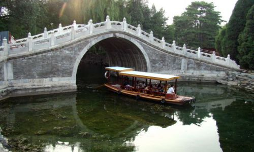 Zdjecie CHINY / - / Pekin / Na terenie  Pałacu Letniego