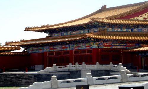 Zdjecie CHINY / - / Pekin / na terenie Zakazanego Miasta