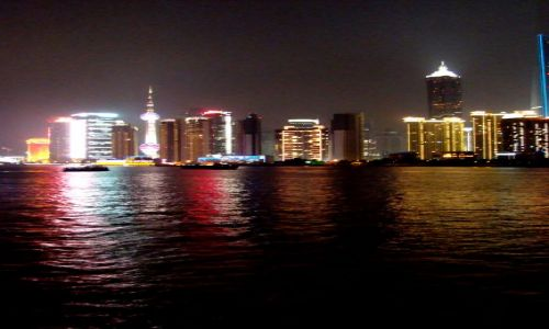 Zdjecie CHINY / - / Shanghai / Shanghai nocą