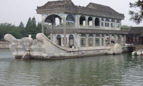 Zdjecie CHINY / - / pałac cesarski / Kamienny statek
