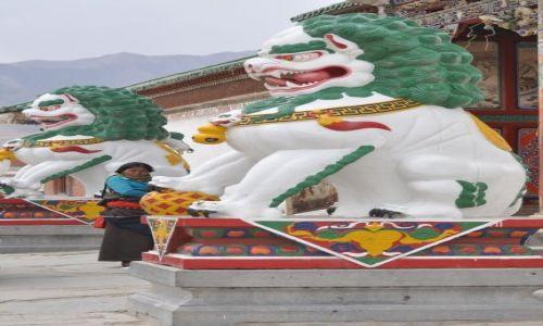 Zdjęcie CHINY / Gansu / Xiahe / Straznicy klasztoru