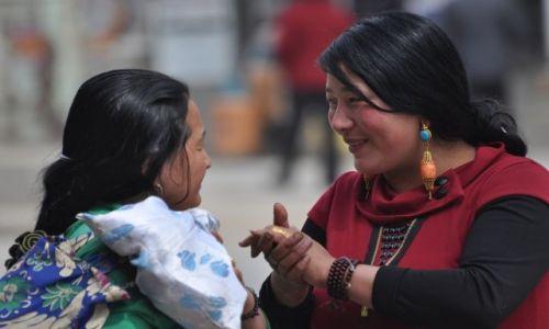 Zdjecie CHINY / Gansu / Xiahe / Spotkanie