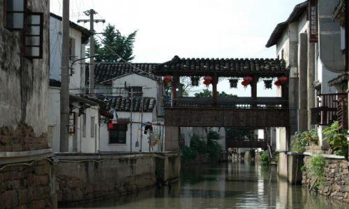 Zdjecie CHINY / - / Suzhou / kanały w Suzhou