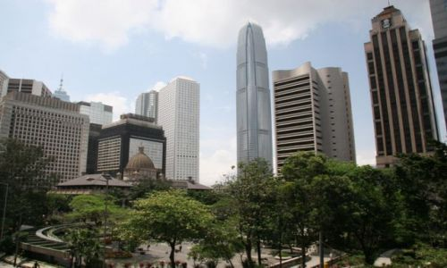 Zdjecie CHINY / brak / Hong Kong / Betonowa dżungla Hong Kongu