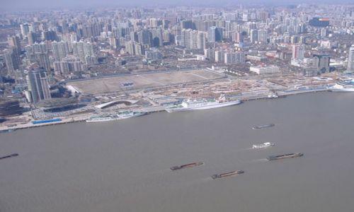 Zdjecie CHINY / brak / Szanghaj / Rzeka Huangpo z