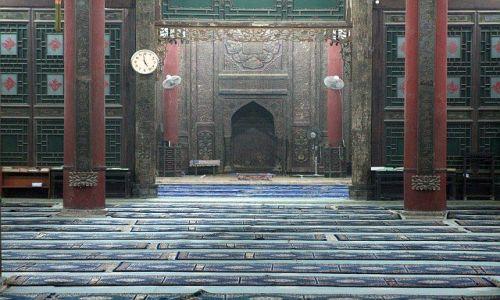 Zdjęcie CHINY / Xian / w jednym z najstarszych i największych w Chinach meczecie / mihrab