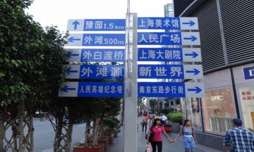 Zdjęcie CHINY / - / Szanghaj / Którędy do dworca?