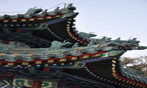 Zdjecie CHINY / PEKIN / PARK ZHONG NAN HAI / DACHY