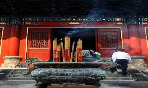 Zdjęcie CHINY / Klasztor Shaolin / Klasztor Shaolin / na modlitwę