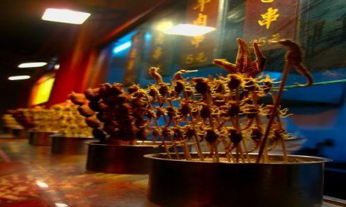 Zdjęcie CHINY / Pekin / Pekin / Chiny pierwsze wrażenie- chińskie szaszłyki