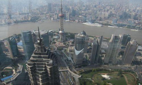 Zdjęcie CHINY / Shanghai / Shanghai / Widok z  World Financial Center