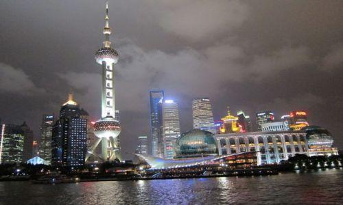 Zdjecie CHINY / Shanghai / Shanghai / Panorama miasta nocą