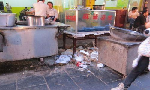 Zdjęcie CHINY / Xi'an / Bazar / Uliczna kuchnia w Xi'an