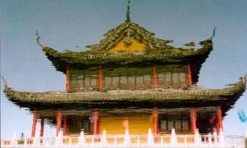 Zdjecie CHINY / Okolice Szanghaju / Zhouzhuang - chińska Wenecja / Odbicie