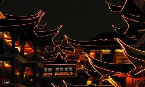 CHINY / wschodnie wybrzeże / Szanghaj / Szanghaj nocą