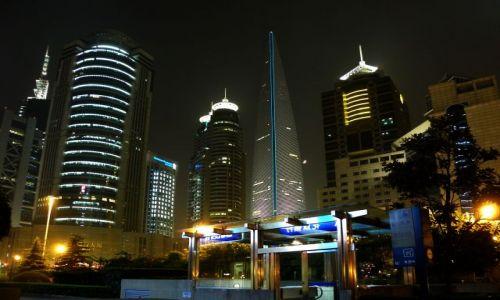 Zdjęcie CHINY / wschodnie wybrzeże / Szanghaj / Szanghaj nocą