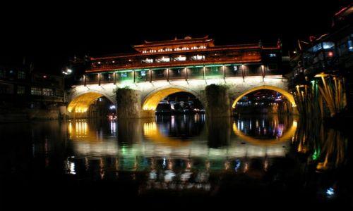 Zdjecie CHINY / Hunan / Feng Huang / Chiński mostek