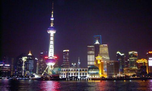 Zdjecie CHINY / - / Szanghaj / Szanghaj nocą - nowe miasto
