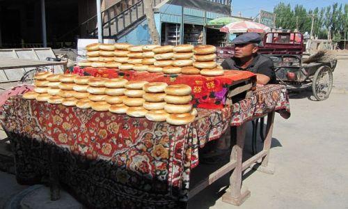 Zdjęcie CHINY / Kaszgar / ulica / smaczne bułeczki