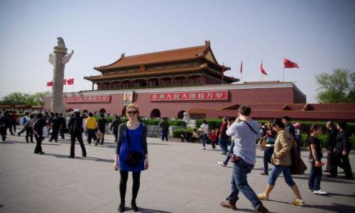 Zdjecie CHINY / - / Pekin / Pod wejściem do Zakazanego Miasta