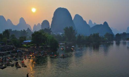 Zdjęcie CHINY / Guilin / Yangshou / Li river